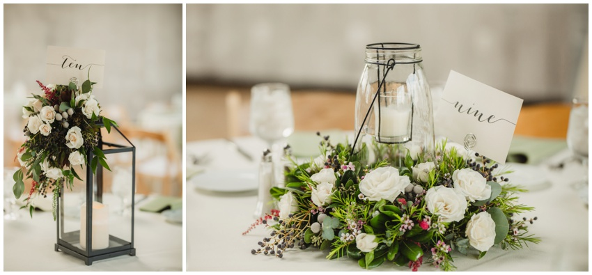 low wedding table centerpieces